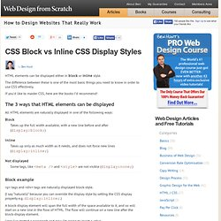 CSS Block vs Inline - CSS Made Simple