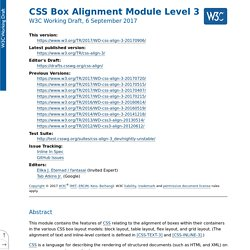 CSS Box Alignment Module Level 3