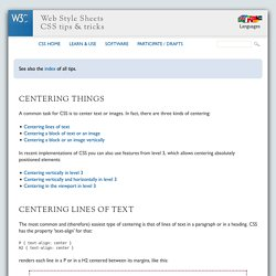 CSS: centering things