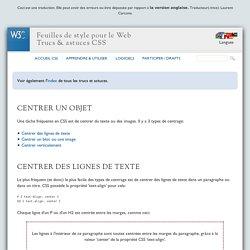 CSS: Centrer un objet