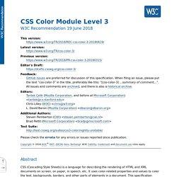 CSS Color Module Level 3