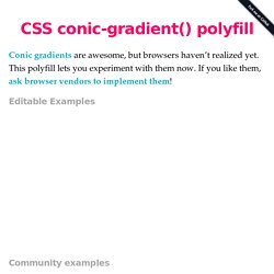 CSS conic-gradient() polyfill