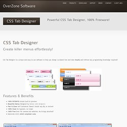 CSS Tab Designer « OverZone Software
