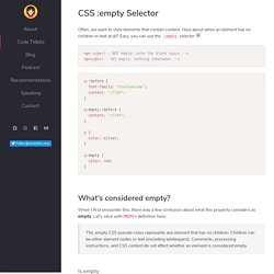 CSS :empty Selector