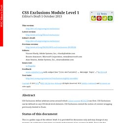 CSS Exclusions Module Level 1