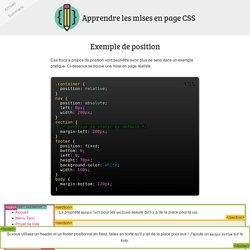 CSS - Exemple de position