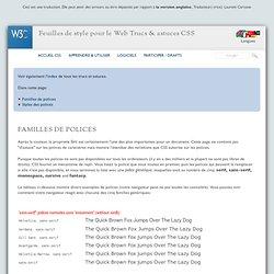 CSS: Familles de polices