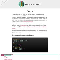 CSS - flexbox
