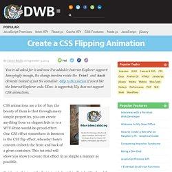 CSS Flip Animation