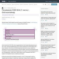 Понимание CSS Grid (1 часть): Grid-контейнер