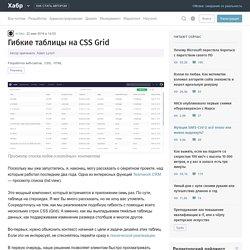 Гибкие таблицы на CSS Grid