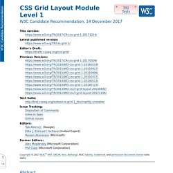 CSS Grid Positioning Module Level3