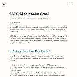 CSS Grid et le Saint Graal