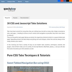 30 CSS and Javascript Tabs Solutions