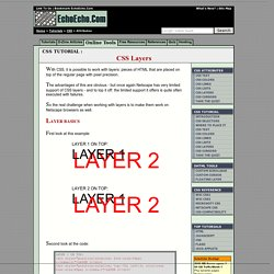 CSS Layers - CSS tutorial