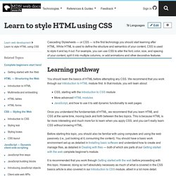 CSS - Learn web development