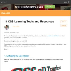 11 CSS Learning Tools and Resources