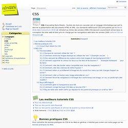 FAQ sur le CSS