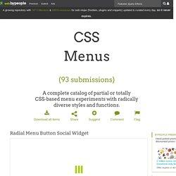 CSS menu, 180 best resources