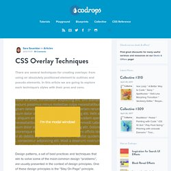 CSS Overlay Techniques