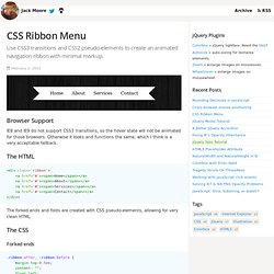 CSS Ribbon Menu - StumbleUpon - Pentadactyl