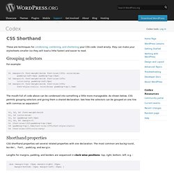 CSS Shorthand