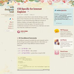 CSS Specific for Internet Explorer