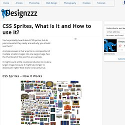 CSS Sprites, What is it and How to use it?