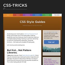 CSS Style Guides