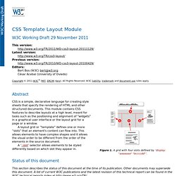CSS Template Layout Module