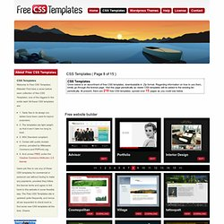 CSS Templates ( Page 8 of 15 ) - Free CSS Templates