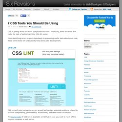 7 CSS Tools You Should Be Using