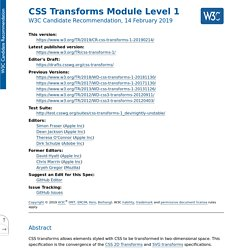 CSS Transforms Module Level 1