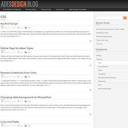 Ades Design - CSS Tutorials.