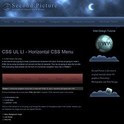 CSS UL LI - Horizontal CSS Menu