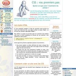 CSS : vos premiers pas