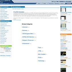 CSS web template, XHTML web template, CSS design, free web templ