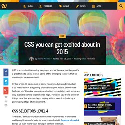 CSS you can get excited about in 2015