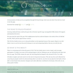 css Zen Garden: The Beauty in CSS Design