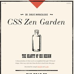 CSS Zen Garden: The Beauty of CSS Design