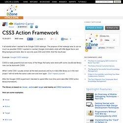 CSS3 Action Framework