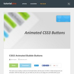 CSS3 Animated Bubble Buttons