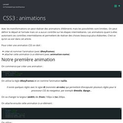 CSS3 : animations – Laravel