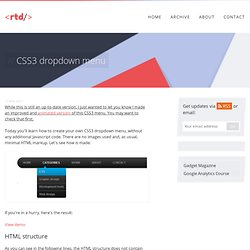 CSS3 dropdown menu – Red Team Design