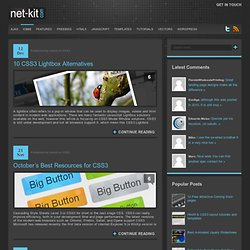 CSS3 - Free web resources – Net-Kit.com