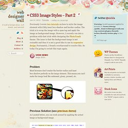 CSS3 Image Styles – Part 2