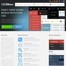 CSS3 Menu. Free CSS Menu Maker