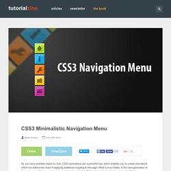 +++CSS3 Minimalistic Navigation Menu