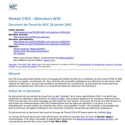 CSS3 module: W3C Selectors