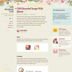 CSS3 Rounded Image With jQuery